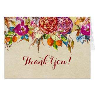 Der Blumen Fall danken Ihnen zu kardieren Karte