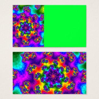 Der Blumen Regenbogen besprüht Visitenkarten