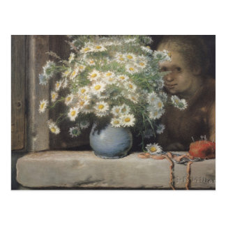 Der Blumenstrauß von Margueritas, 1866 Postkarte