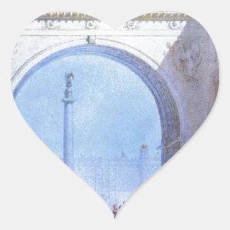 Der Bogen des allgemeine Headquarters-Gebäude Herz-Aufkleber