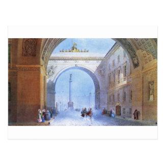 Der Bogen des allgemeine Headquarters-Gebäude Postkarte