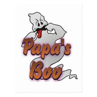 Der Boo-Halloween-Geist des Papas Postkarte