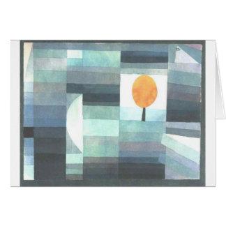 Der Bote des Herbstes durch Paul Klee Karte