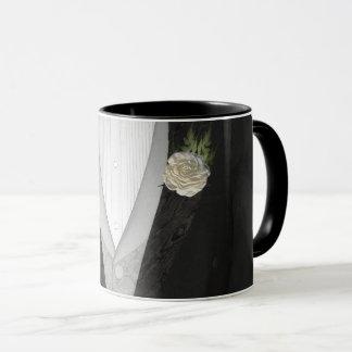 """Der Bräutigam """"seine"""" (Weiß) Hochzeit Tasse"""
