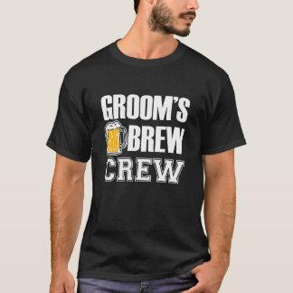 Der Brew-der Crew des Bräutigams lustiges T-Shirt