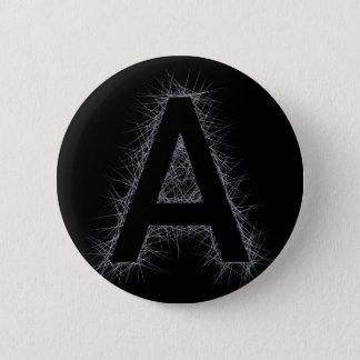 Der Buchstabe A Runder Button 5,7 Cm