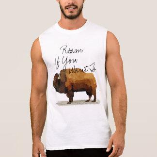 """Der Büffel der Männer """"durchstreifen, wenn Sie"""" Ärmelloses Shirt"""
