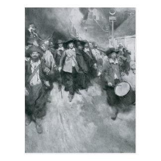 Der Burning von Jamestown Postkarten