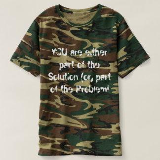 Der Camoflauge der Männer T - Shirt, der innen den T-shirt