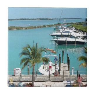 Der Cay-Jachthafen des Falken Keramikfliese