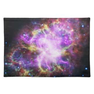 Der Chandra Röntgenstrahl im Krabben-Nebelfleck Stofftischset