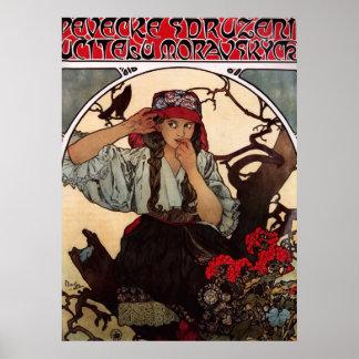 Der Chor GalleryHD Lehrers Alphonse Mucha Moravian Poster