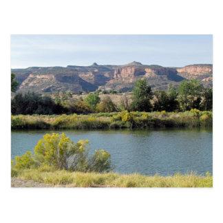 Der Colorado bei Fruita, Colorado im September Postkarte