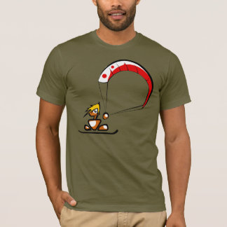 Der coole kitesurfing Typ-Cartoon T-Shirt