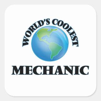 Der coolste Mechaniker der Welt Quadratischer Aufkleber