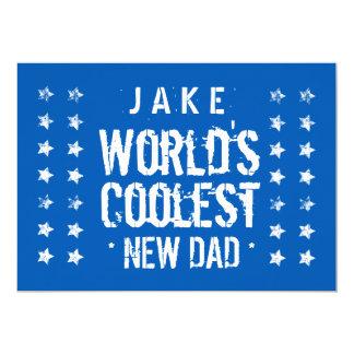 Der coolste NEUE blaue VATI der Welt und das Weiß 12,7 X 17,8 Cm Einladungskarte