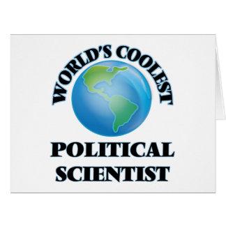 Der coolste politische Wissenschaftler der Welt Grußkarten