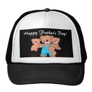 der daddybear, glückliche Vatertag! Cap