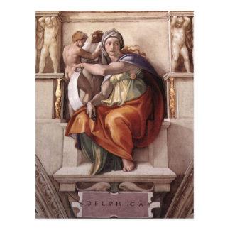 Der Delphic Sibyl - Fresko Sistine Kapelle Postkarte