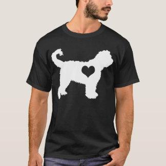 Der dunkle T - Shirt der Barbet-Herz-Männer