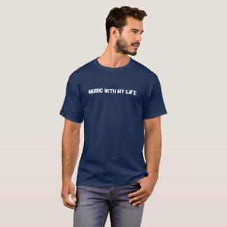 Der dunkle T - Shirt der Männer - Musik mit meinem