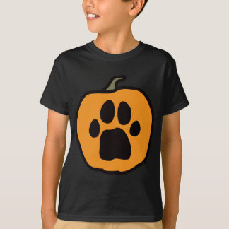 Der dunkle T - Shirt der Tatzen-Kürbis-Kinder