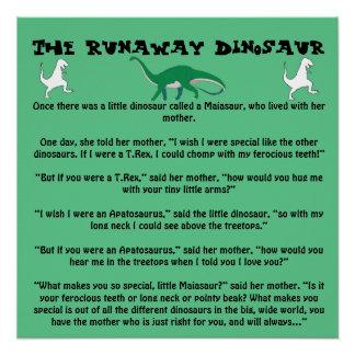 Der Durchgehen-Dinosaurier Poster