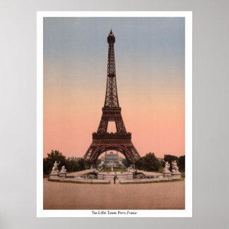 Der Eiffelturm, Paris, Frankreich Poster