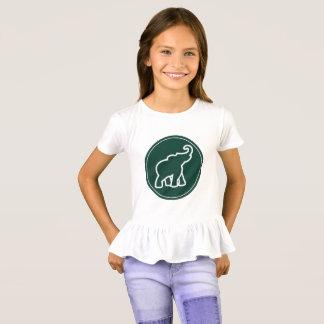Der Elefant-Rüsche-Shirt des Mädchens T-Shirt