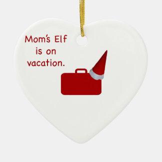 Der Elf der Mammas ist auf Ferien Produkten Keramik Herz-Ornament