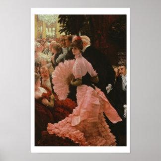 Der Empfang oder, L'Ambitieuse (politische Frau) c Poster