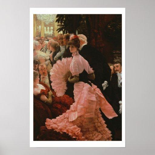 Der Empfang oder, L'Ambitieuse (politische Frau) c Plakatdruck