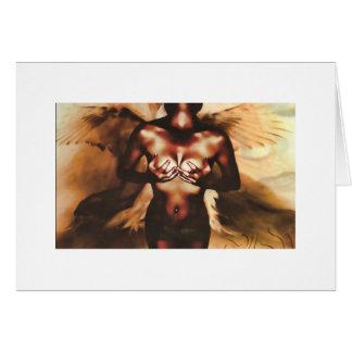 Der Engel Mitteilungskarte