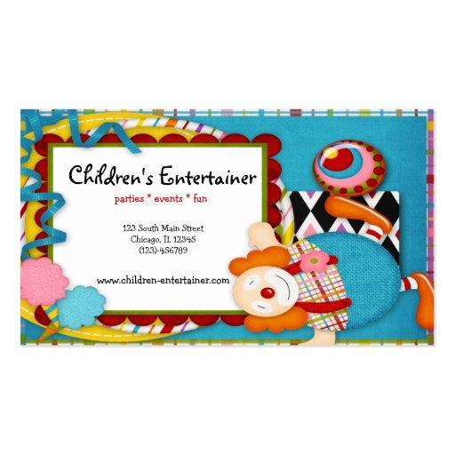 Der entertainer der kinder visitenkarten zazzle for Visitenkarten gratis vorlagen