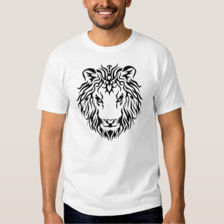 Der Entwurf Löwe-Königs Single Stencil Tattoo Tshirt