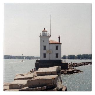 Der Eriesee-Leuchtturm Große Quadratische Fliese