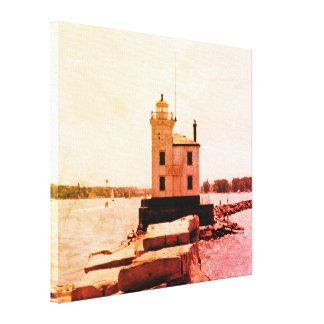 Der Eriesee-Leuchtturm Leinwanddruck