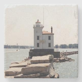 Der Eriesee-Leuchtturm Steinuntersetzer
