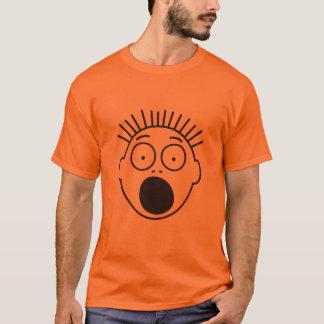 Der erschrockenen das Gesicht Stock-Superzahlen T-Shirt