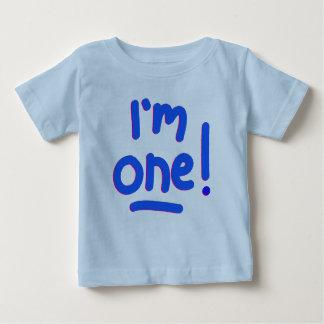 """DER ERSTE GEBURTSTAG DES BABYS - """"ich bin EINER! """" Baby T-shirt"""