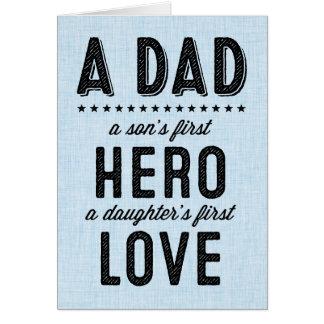 Der erste Held eines Sohns, erste die Liebe-Karte Grußkarte