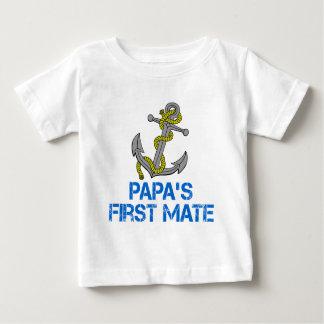 Der erste Kamerad des Papas Baby T-shirt