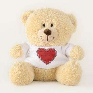Der erste Valentine des Babys personalisiert Teddybär