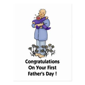 Der erste Vatertag Postkarten