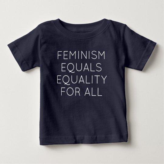 Der Feminismus entspricht Gleichheit für alle Baby T-shirt