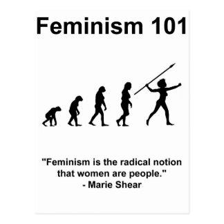 Der Feminismus ist der radikale Begriff Postkarte