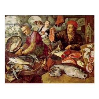 Der Fischmarkt Postkarte