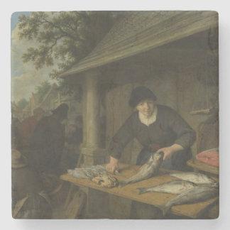 Der fishwife-Stein-Untersetzer Steinuntersetzer