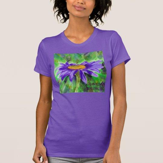 Der Fleabane der Frauen Gänseblümchen-T - Shirt