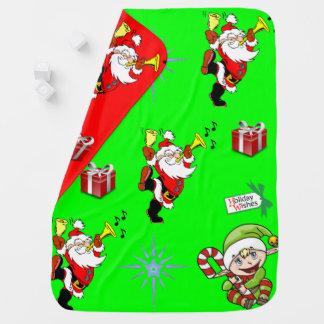 Der Fleece-Decke Sankt-Babys umschaltbares grünes Puckdecke
